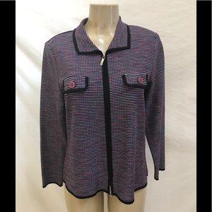 Exclusively Misook zip jacket  XS